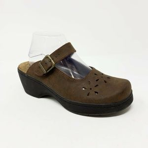 5bfc5f182dfd Dr Scholls Brooke Size 9M Leather Mary Jane Clogs